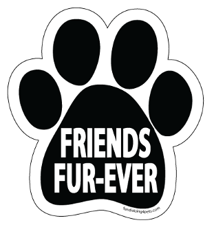 Friends Fur-Ever Paw Print Magnet