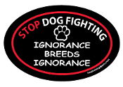 Stop Dog Fighting Oval Magnet
