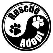 Yin Yang Rescue Adopt Circle Magnet - Black/White