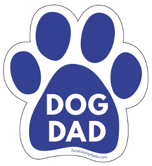 Dog Dad Paw Print Magnet - Blue * NEW!