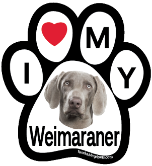 I Love My Weimaraner Paw Magnet - NEW!