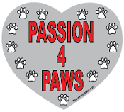 Passion 4 Paws Heart Magnet - Gray *NEW*