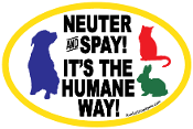 Neuter and Spay It's the Humane Way - NEW!