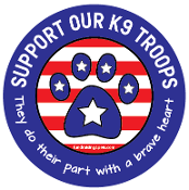 Support Our K9 Troops circle magnet - NEW!