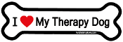 I Love My Therapy Dog Bone Magnet - NEW!