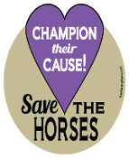 Champion Their Cause Save The Horses hoof magnet - purple *NEW*