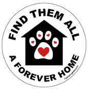 Find Them All A Forever Home circle magnet (house/paw) - NEW!