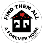 Find Them All A Forever Home circle magnet (silhouettes) - NEW!