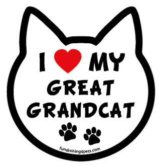 I Love My Great Grandcat cat head magnet - NEW!
