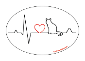 Heartbeat oval magnet - Cat *NEW*