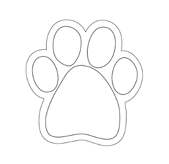 Customize-Your-Own SMALL PAW Magnet, Pack of 25 - NEW!