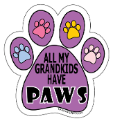 All My Grandkids Have Paws Paw Print Magnet