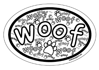Crazy Woof Oval Magnet