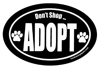 Don't Shop Adopt Oval Magnet- Black
