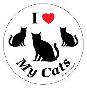 I Love My Cats Circle Magnet *bargain bin*