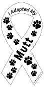 I Adopted My Mutt Ribbon Magnet