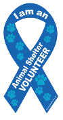 I am an Animal Shelter Volunteer Ribbon Magnet *bargain bin*