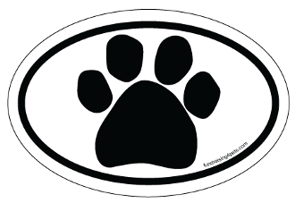 Paw Print Oval Magnet
