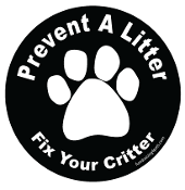 Prevent a Litter Fix Your Critter Circle Magnet - Black