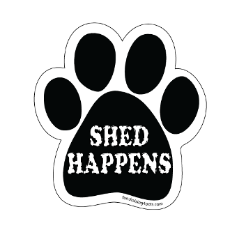 Shed Happens Paw Print Magnet