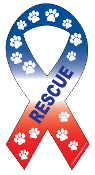 Rescue Ribbon Magnet - Red/White/Blue