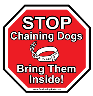 Stop Chaining Dogs Stop Sign Magnet