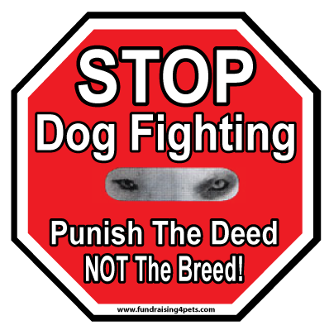 Stop Dog Fighting Stop Sign Magnet *bargain bin*