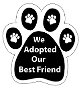 We Adopted Our Best Friend Paw Print Magnet