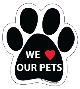 We Love Our Pets Paw Magnet