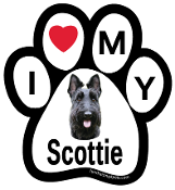 I Love My Scottie Paw Print Magnet - NEW!