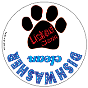 Licked Clean / Dishwasher Clean kitchen magnet - NEW!