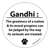 Gandhi Circle Magnet - White * NEW!