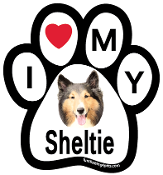 I Love My Sheltie Paw Print Magnet - NEW!