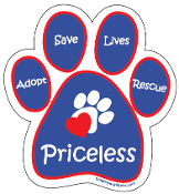 Priceless Paw Print Magnet