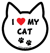 I Love My Cat cat head magnet - NEW!