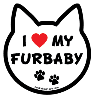 I Love My Furbaby cat head magnet - NEW!