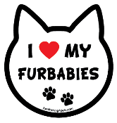 I Love My Furbabies cat head magnet - NEW!