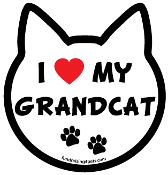 I Love My Grandcat cat head magnet - NEW!