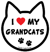 I Love My Grandcats cat head magnet - NEW!