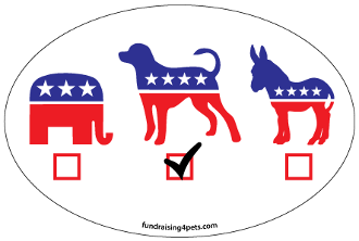 Vote Dog oval magnet - NEW!
