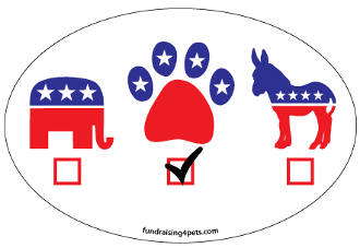 Vote Paw oval magnet - NEW!
