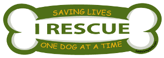 I Rescue, Saving Lives Bone Magnet