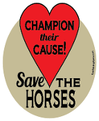 Champion Their Cause Save The Horses hoof magnet - red *NEW*