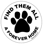 Find Them All A Forever Home circle magnet (paw) *bargain bin*