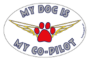 My Dog Is My Co-Pilot oval magnet - NEW!