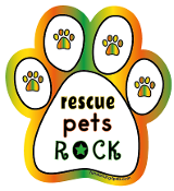Rescue Pets Rock paw magnet - NEW!