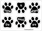 Home Is Where the Paws Are Mini Paw Magnets 6pk - NEW!