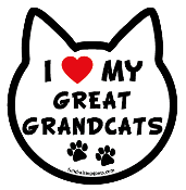 I Love My Great Grandcats cat head magnet - NEW!