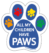 All My Children Have Paws Magnet - Blue *bargain bin*