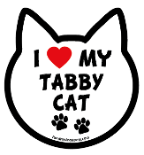I Love My Tabby Cat cat head magnet - NEW!